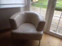 Leather arm chair ligne Roset
