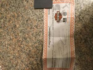 Blackridge Harley Davidson Cambridge rental certificate