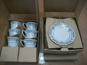 TRISA PORCELAIN 885 CHINA 8 CUPS AND 8 SAUCERS -- NEW IN BOX