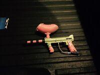 Tippman 98 custom paintball gun and mask