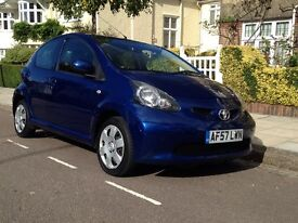 TOYOTA AYGO 1.0 FULL YEAR MOT ,2 KEY . ROAD TAX £21 only