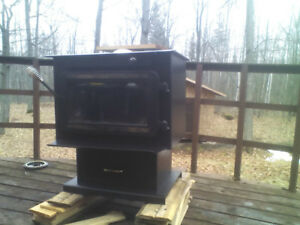 airtight wood stove with glass door