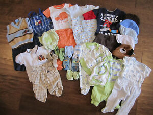 Boys 0-3 Month Clothing Lot (29 pieces)