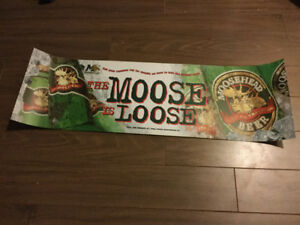 Mooseheads Ad Banner- Poly Resin