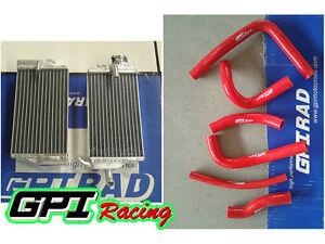 FOR fit Honda CR250 CR250R CR 250 R 2000 2001  00 01 Aluminum Radiator+ hose