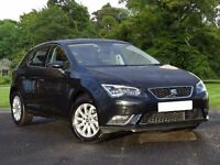 SEAT Leon 1.6 TDI SE (Tech Pack) 5dr (start/stop) (black) 2016