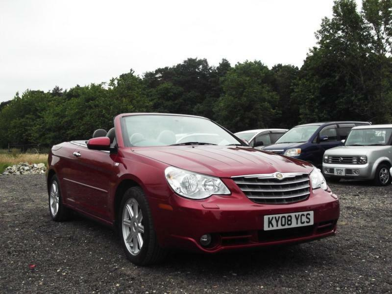 2008 chrysler sebring 2 7 cabrio v6 automatic limited convertible px swap swop in heathrow. Black Bedroom Furniture Sets. Home Design Ideas