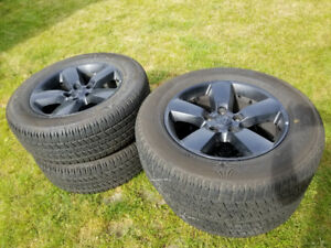 L@@K - Black Dodge Ram take off tire set from 2018. 20 inch