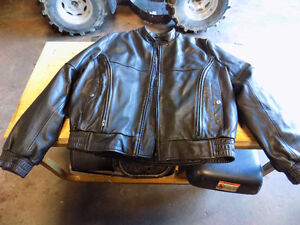 Motorcycle black Leather Jacket (size 44) Excelent Condition