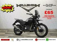 2021 (21) ROYAL ENFEILD HIMALYAN MY20 EX DEMO WITH LOW MILES FINISHED IN BLAC...