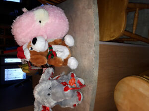 All new stuffed animal toys the dog sings and moves and so does