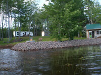 Waterfront camper for rent