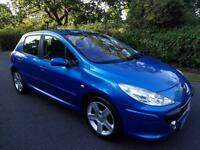 PEUGEOT 307 1.6 (16v) 110bhp SPORT - 5 DOOR - 2006 - BLUE ** NEW SHAPE **