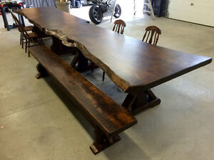 Rustic custom tables, benches, cabinets, barndoors Cambridge Kitchener Area image 8
