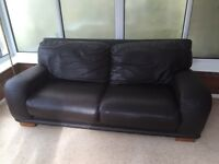 FREE BLACK LEATHER SOFA