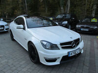 2012 (12) MERCEDES C63 AMG COUPE 6.3 EDITION 125 7G AUTO (457BHP)