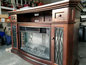 Electric fireplace/tv stand  with Remote - Chimney Free