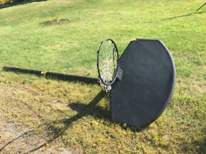 BB net, post and adjustable backboard