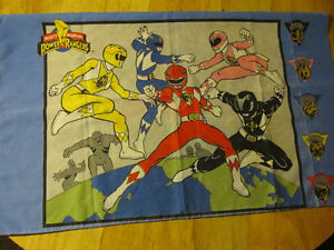 MIGHTY MORPHIN POWER RANGERS Pillow Case Bandai 1994 Vintage