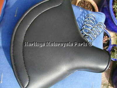 UNIVERSAL NEW LARGE LYCETTE SOLO SADDLE SEAT  CHROME SPRINGS BSA TRIU