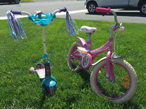 Bike and Disney tinker bell scooter