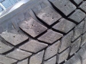 185/R65/14 Snow tires, rims and wheel covers