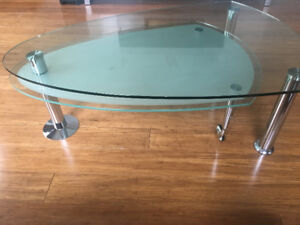 STRUCTUBE Swivel Glass Coffee Table *** LIKE NEW *** MUST GO!!!