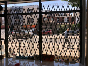 FOLDING SECURITY GATES - 4 GATES for sale