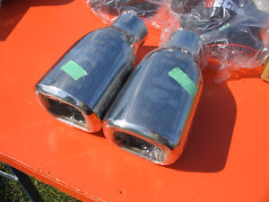 New Stainless Steel Exhaust Tips   Pair of 2