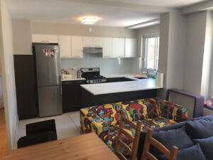 Sharing Amazing Semi furnished 3 1/2 apt to share in DT Montreal