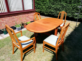 Mid Century Parker Knoll dining table and chairs
