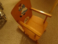 ROCKER  for a  doll,wood! vintage, decal on back, perfect