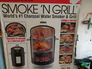 4 in 1 Charcoal Water Smoker & Grill