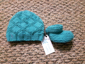 0-6 Month Hat and Bootie Sets