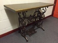 Rare cast iron sewing machine base/table