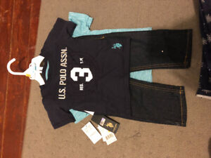 Polo Baby Boy Outfit Size 12m