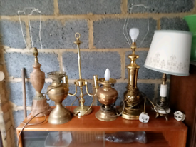 Selection Of Vintage Lamps For Sale