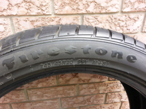 One only  Firestone Firehawk tire