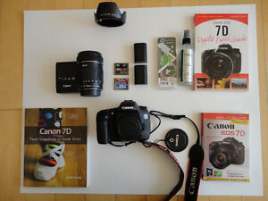 CANON EOS 7D DSLR CAMERA LENS EFS 18-135 MM ACCESSORIES