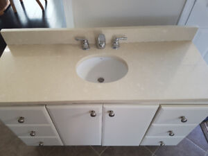 Vanity with marble top 49 /19 excellent condition