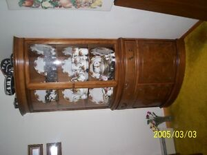 2 pedistal Dining Room Set with Corner Hutch