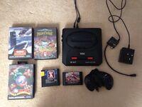 Sega Mega Drive with 7 games