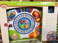 Kiddicare letter train and piano activity table (boxed as new!)