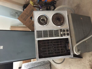stove top with grill
