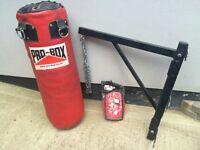 Heavy punch bag, bracket and brand new speedball