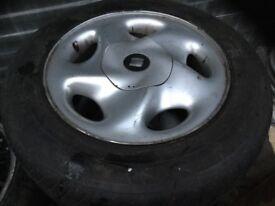 "Set of 5 vw, seat, audi 15"" 5x112 original wheels with very good tyres"