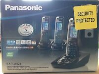PANASONIC KX-TG8423 TRIPLE DIGITAL CORDLESS HANDSETS WITH ANSWER SYSTEM