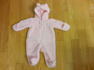 NEW Price CARTER'S HOODED SHERPA INFANT 1-PIECE SNOWSUIT
