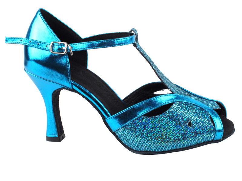 3 Choices! Gold, Black, Blue - Sparkle Shimmer Latin Salsa Very Fine Dance Shoes