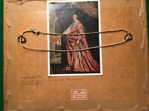 Famous Antique Print of Cardinal Richelieu